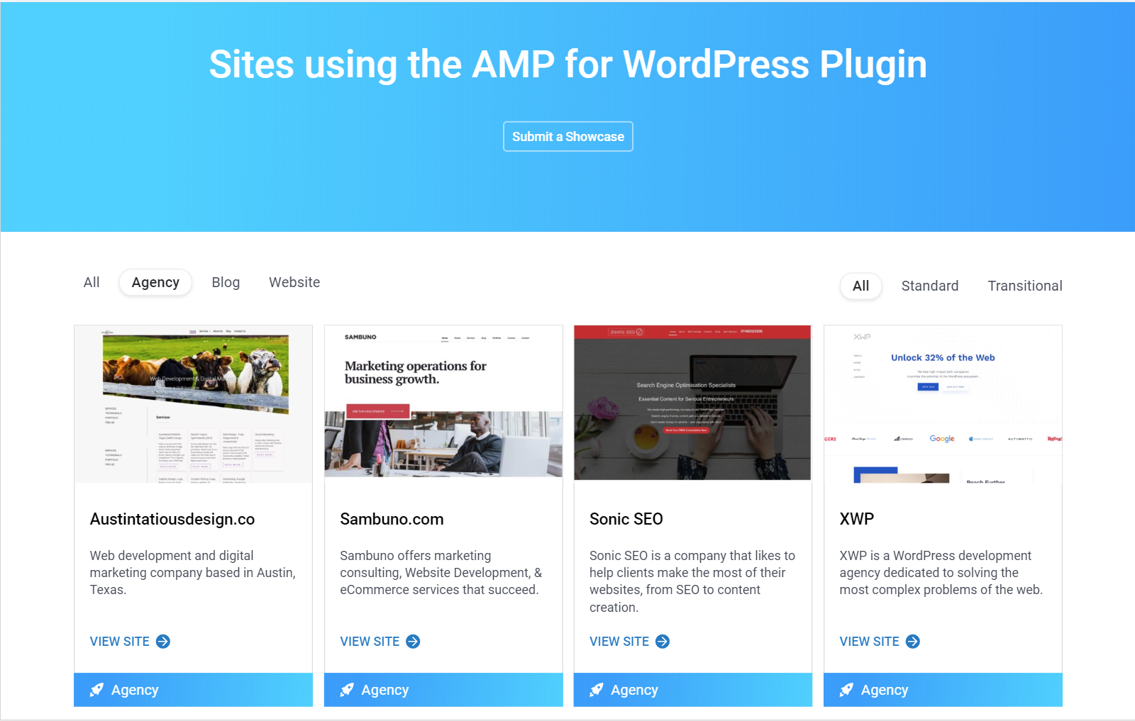 Google's AMP-WP.org Showcase: Includes Two of My Sites